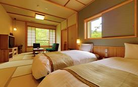 天然温泉檜風呂付客室